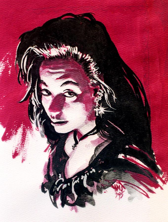 Women Painting - Gypsy by Ken Meyer