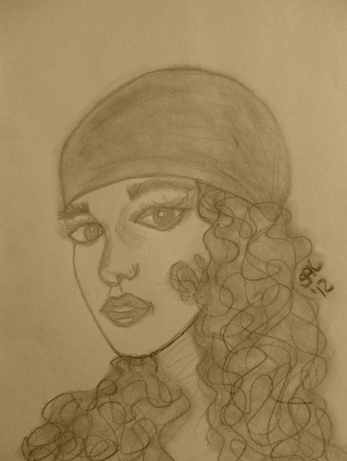 Gypsy Drawing - Gypsy by Shayna  Keach