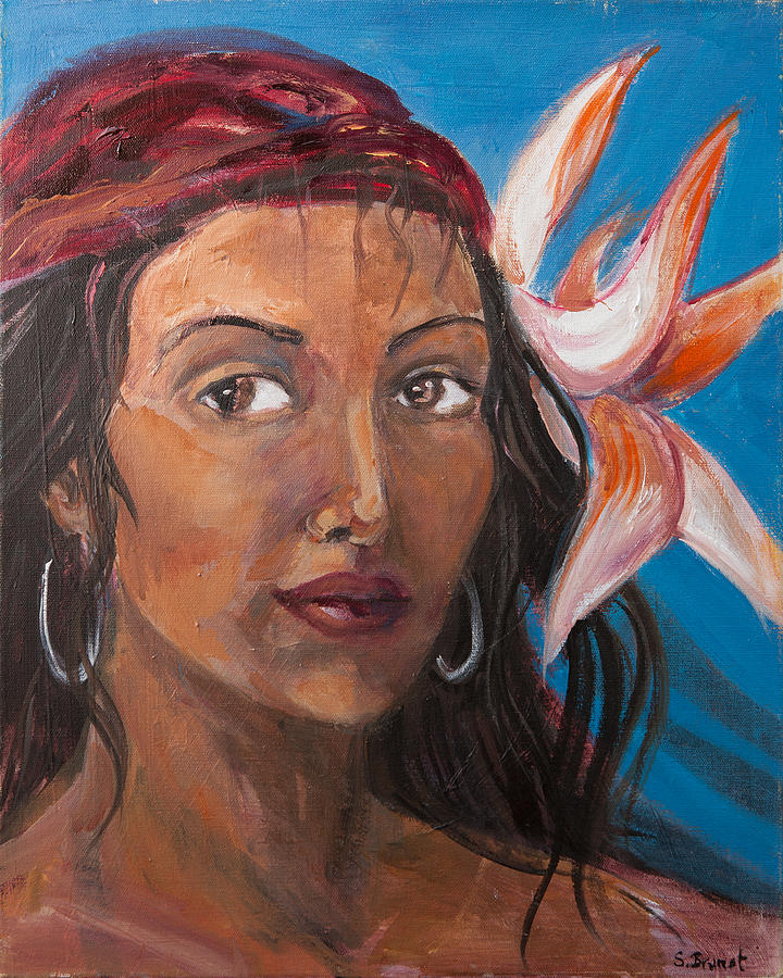 Sophie Brunet Painting - Gypsy by Sophie Brunet