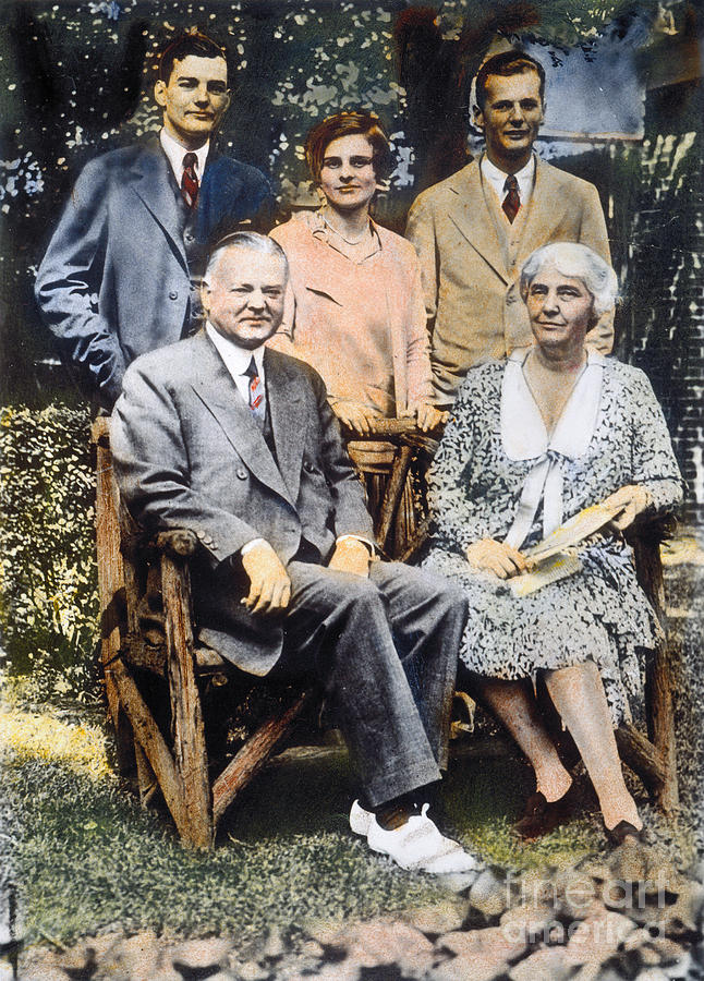 1930 Photograph - H. Hoover And Family by Granger