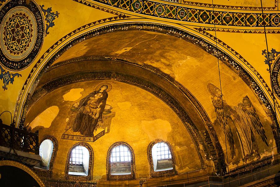 Hagia Photograph - Hagia Sophia Architectural Details by Artur Bogacki