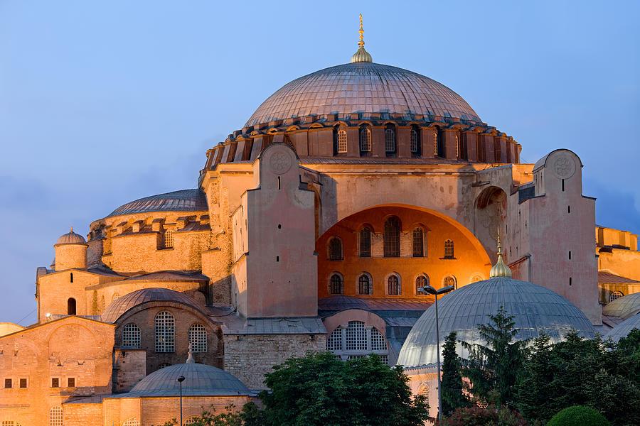Ayasofya Photograph - Hagia Sophia At Dusk by Artur Bogacki
