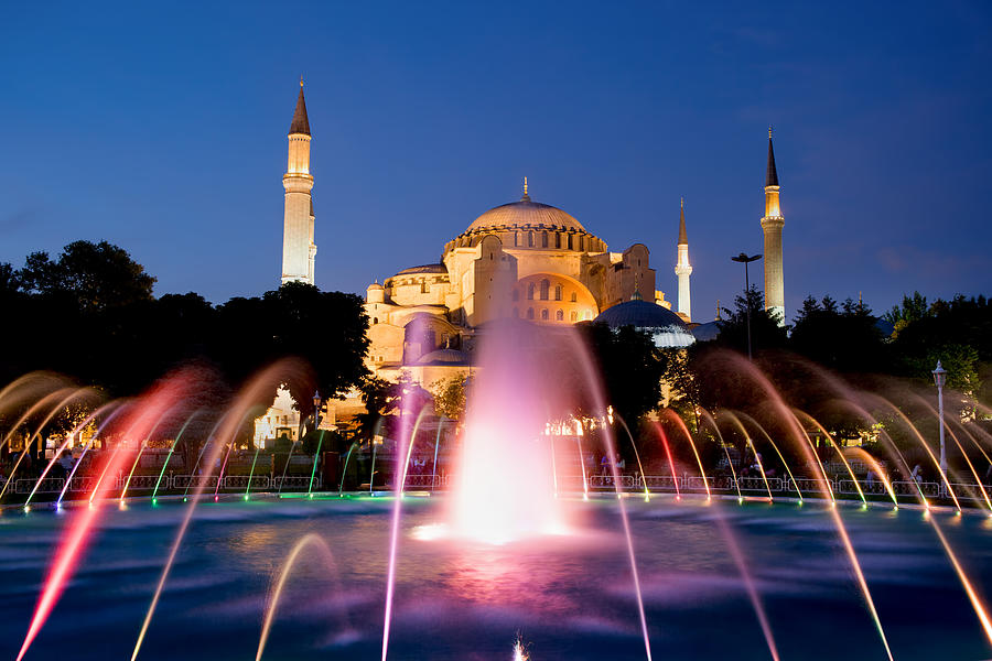 Ayasofya Photograph - Hagia Sophia At Night by Artur Bogacki