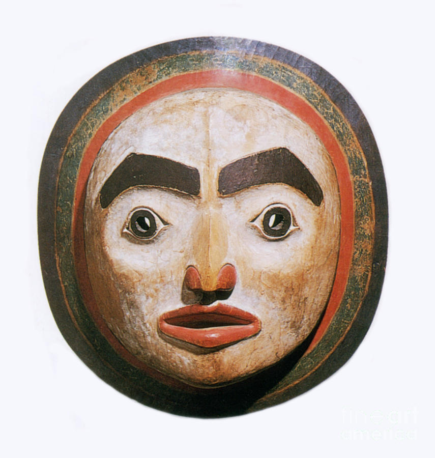 History Photograph - Haida Moon Mask by Photo Researchers