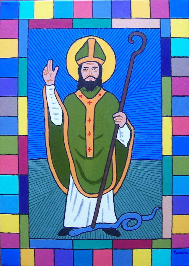 Saint Patrick Painting - Hail Glorious Saint Patrick by Eamon Reilly
