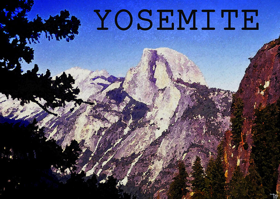 Artwork Painting - Half Dome by David Lee Thompson