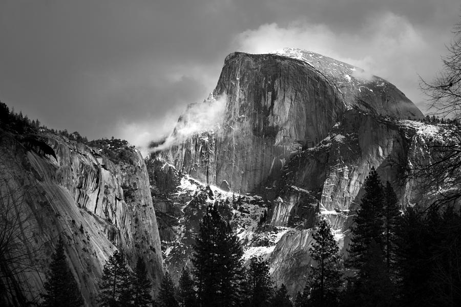 Black And White Photograph - Half Dome by Jeff Grabert
