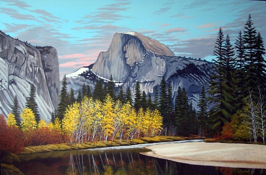 Landscape Painting - Half-dome by Rick Gallant