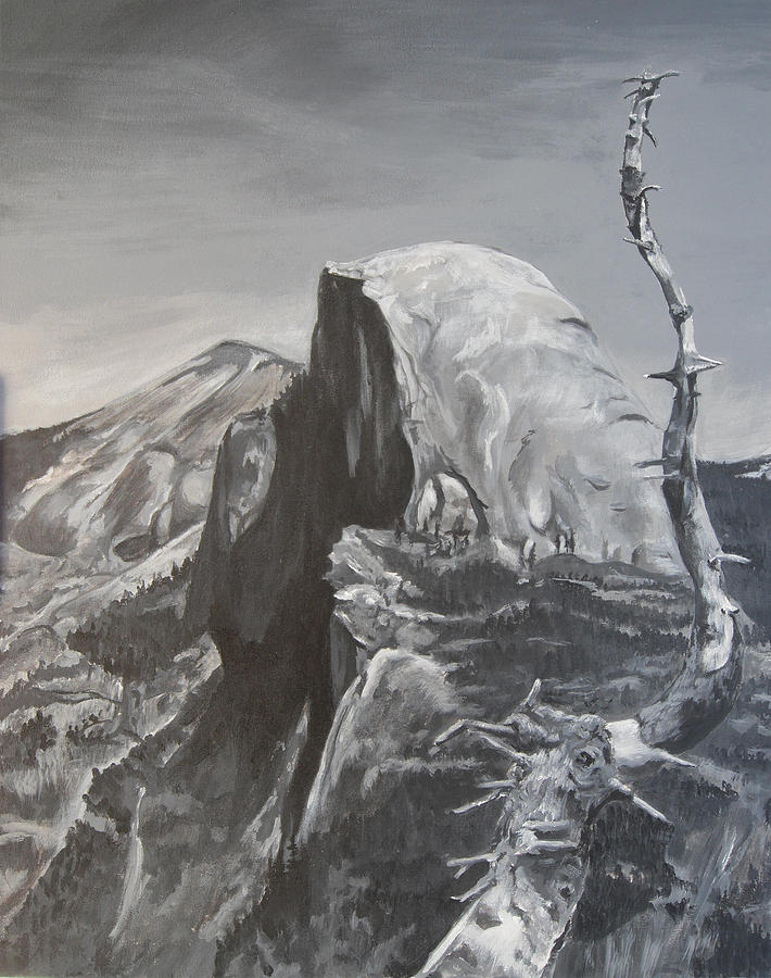 Half Dome Painting - Half Dome Tree by Travis Day