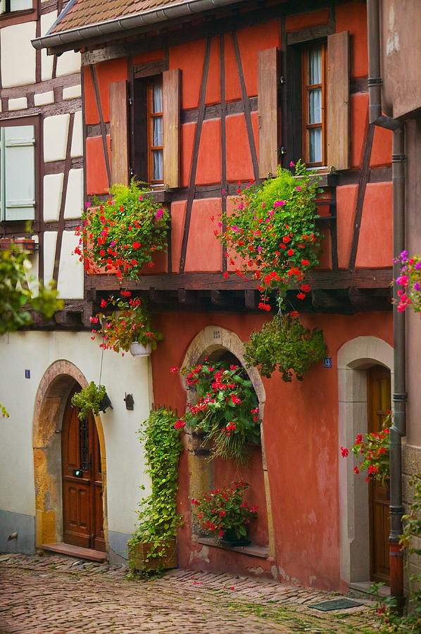 Alsace Photograph - Half Timbered by John Galbo