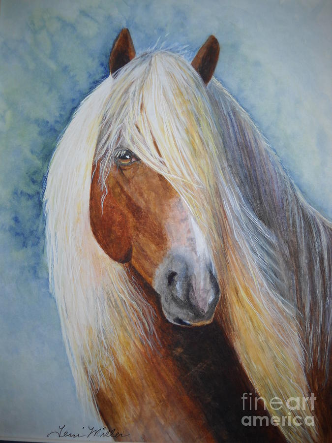 Equine Painting - Halflinger by Terri Maddin-Miller