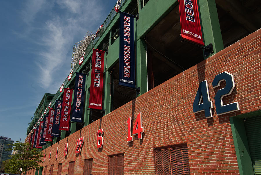 Boston Red Sox  - Hall Of Famers by Paul Mangold