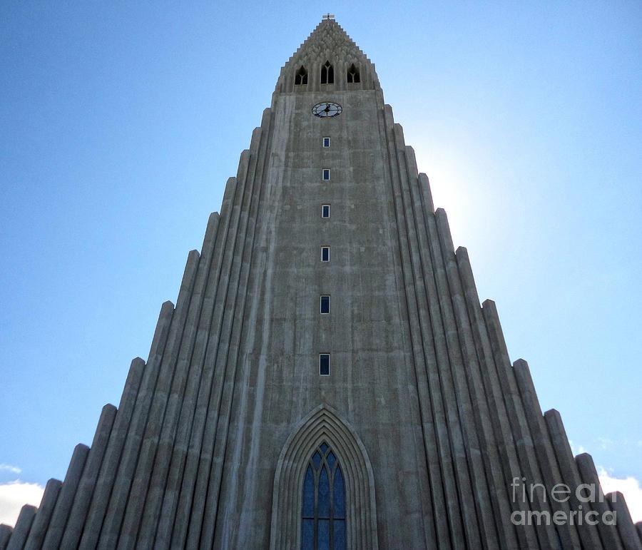 Hallgrimskirkja Photograph - Hallgrimskirkja - Church Reykjavik Iceland  by Gregory Dyer