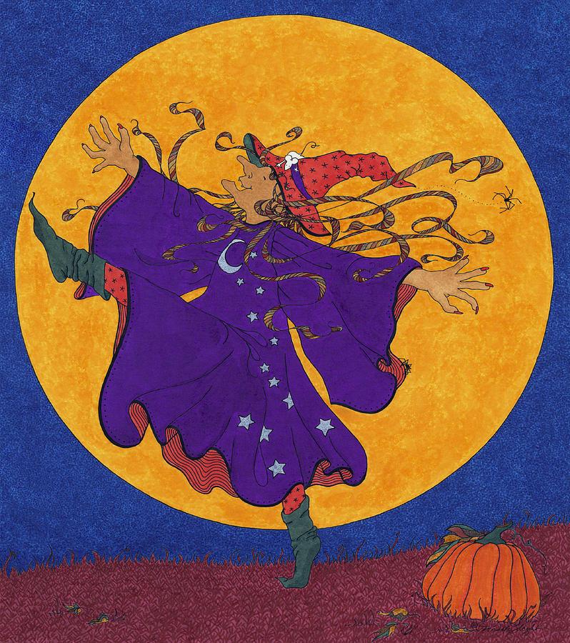 Halloween Drawing - Halloween Dance by Michele Sleight