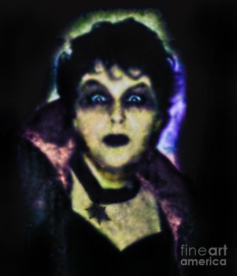 Autumn Photograph - Halloween Vampire Look by Alexandra Jordankova