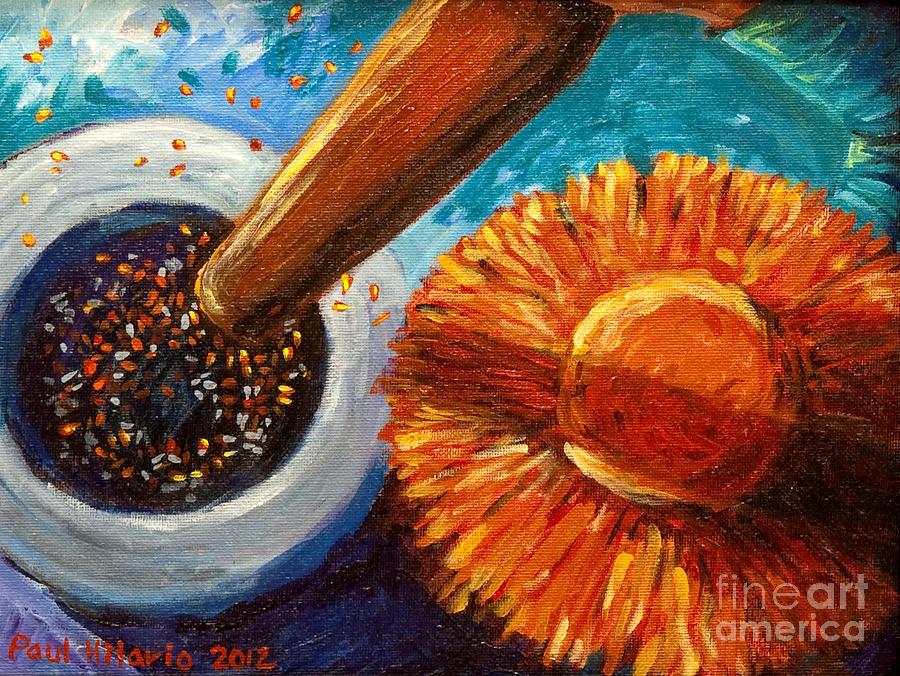 Rice Painting - Halo Bayo At Sombrero by Paul Hilario