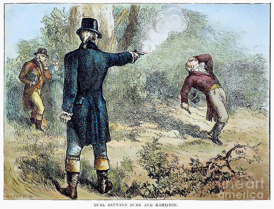 1804 Drawing - Hamilton-burr Duel, 1804 by Granger