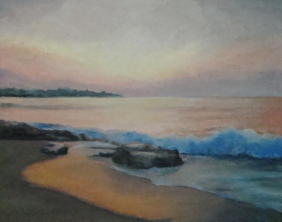 New Hampshire Painting - Hampton Beach Predawn by Mark Haley