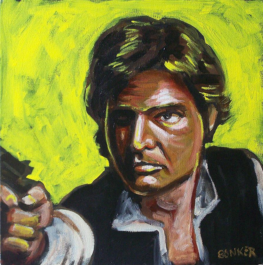 Han Solo Painting by Buffalo Bonker