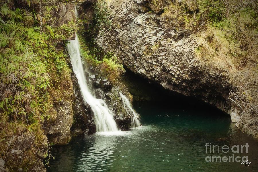 Waterfall Photograph - Hana Waterfall by Scott Pellegrin