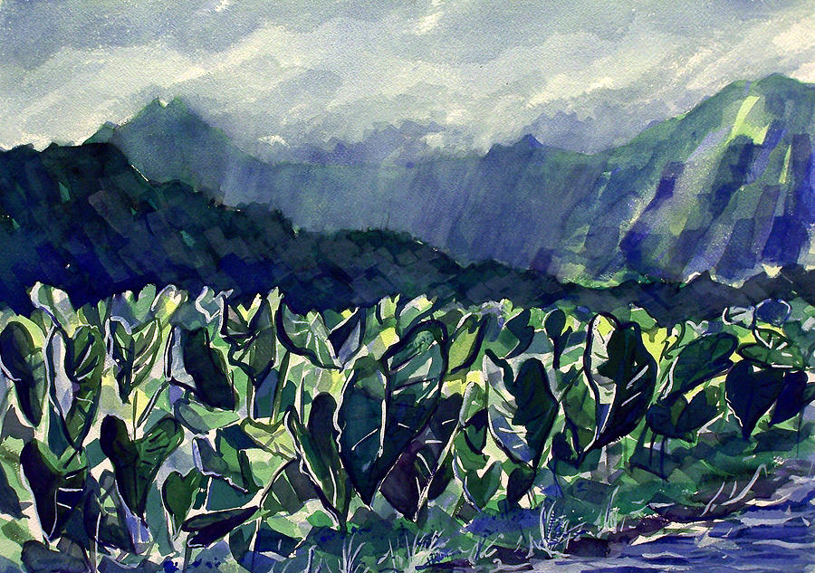 Hanalei Taro Painting by Jon Shepodd