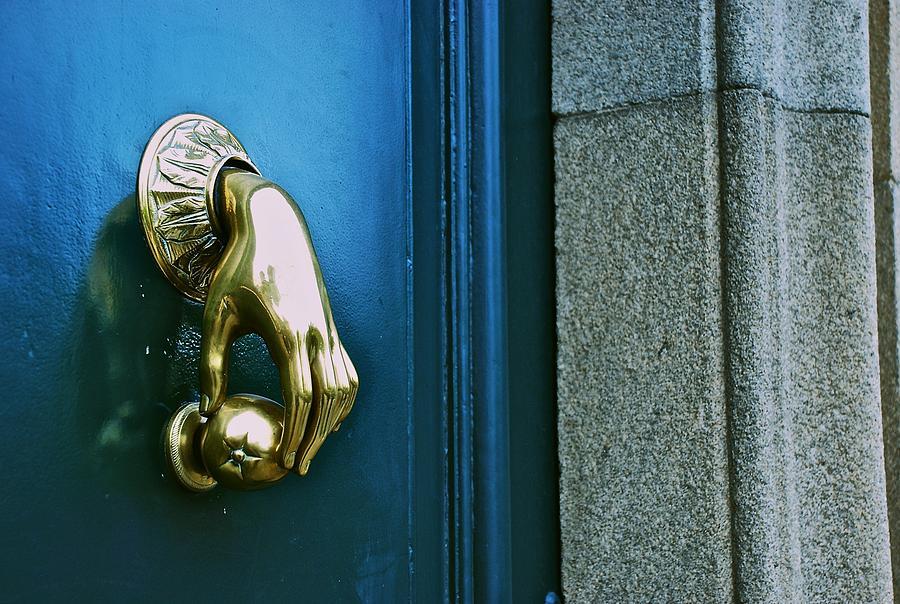 Door Knocker Photograph   Hand Door Knocker By Eric Tressler