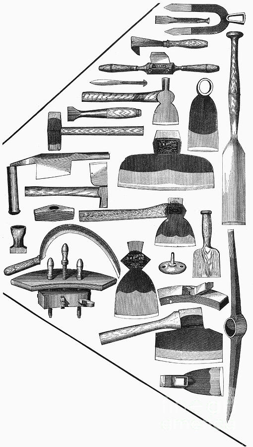 1876 Photograph - Hand Tools, 1876 by Granger