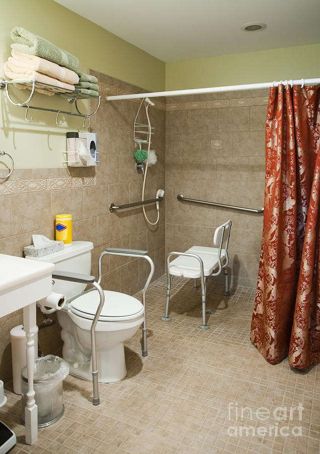 Bathroom Photograph - Handicapped-accessible Bathroom by Andersen Ross