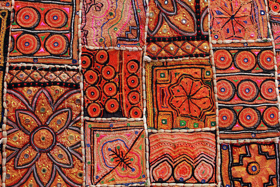 Horizontal Photograph - Handicraft Fabric Art by Milind Torney