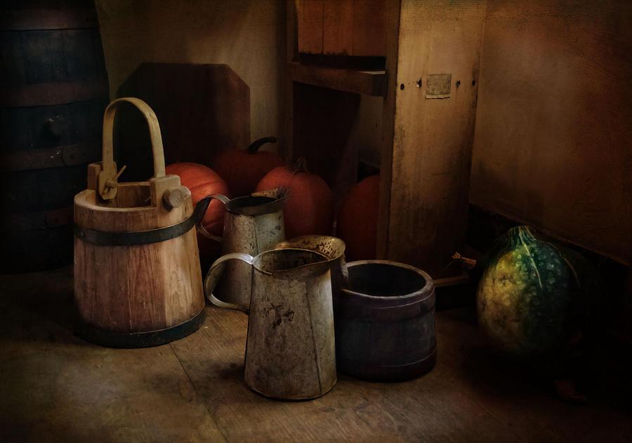 Buckets Photograph - Handmade And Homegrown by Robin-Lee Vieira