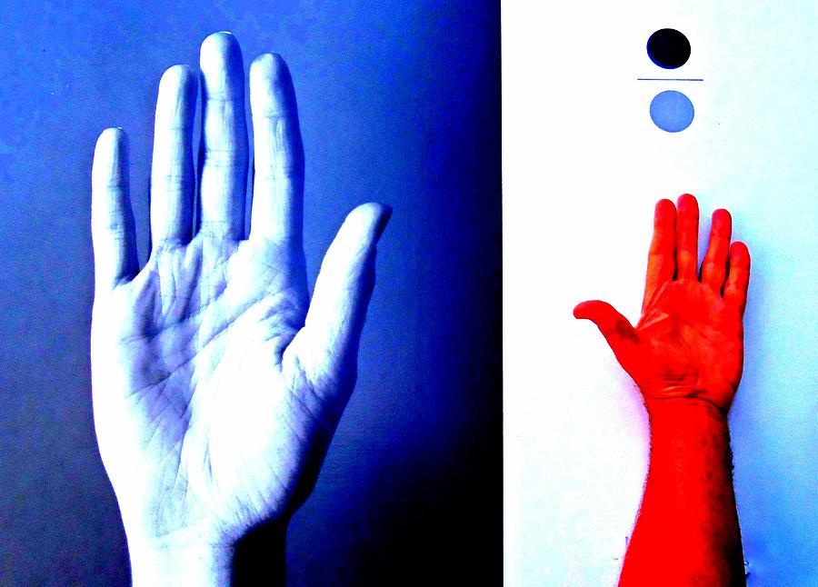 Hand Digital Art - Handmade In America by Randall Weidner