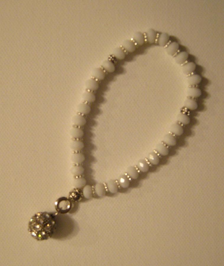 Handmade White Bracelet Jewelry by Fatima Pardhan