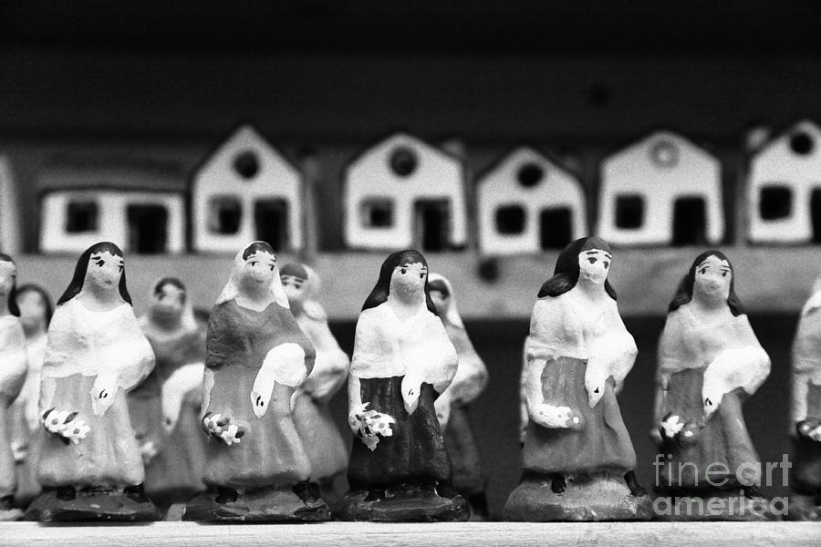 Figurines Photograph - Handpainted Figurines by Gaspar Avila
