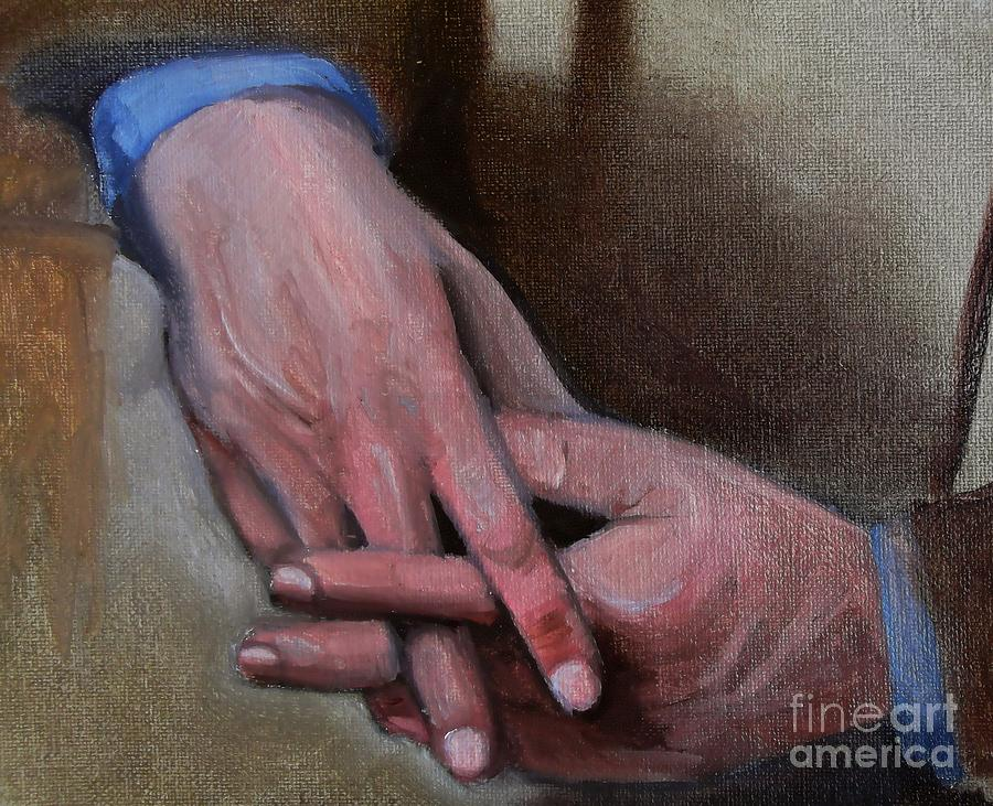 Study Painting - Hands In Oils by Kostas Koutsoukanidis