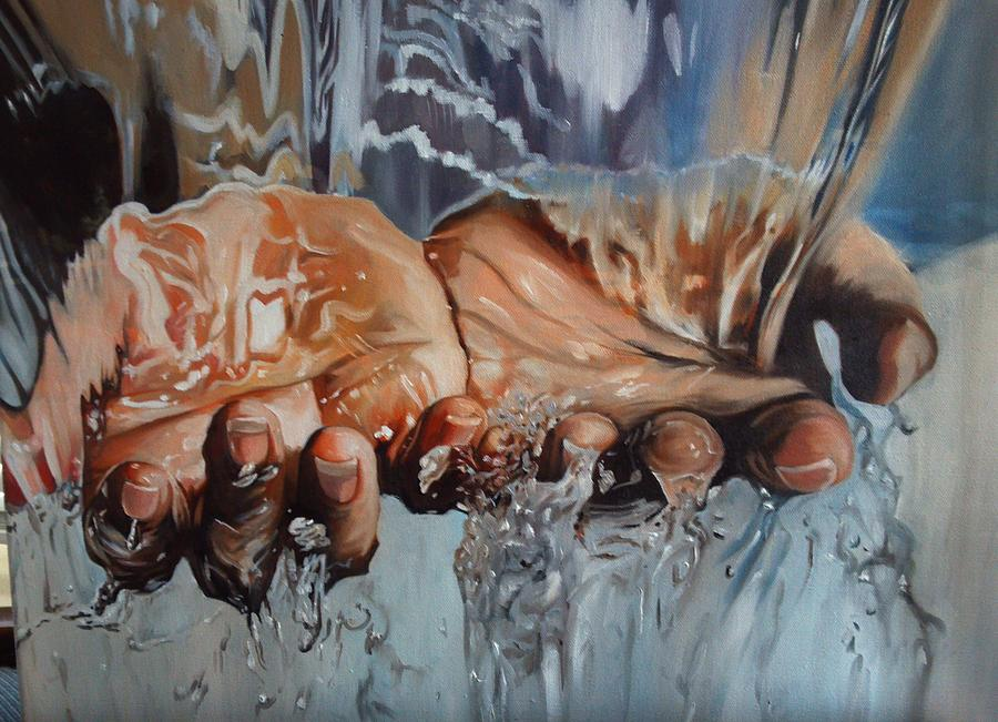Hands painting by kimberly vandenberg for Watercolor paintings of hands