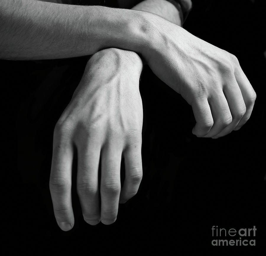 Man Photograph - Hands Study by Gabriela Insuratelu