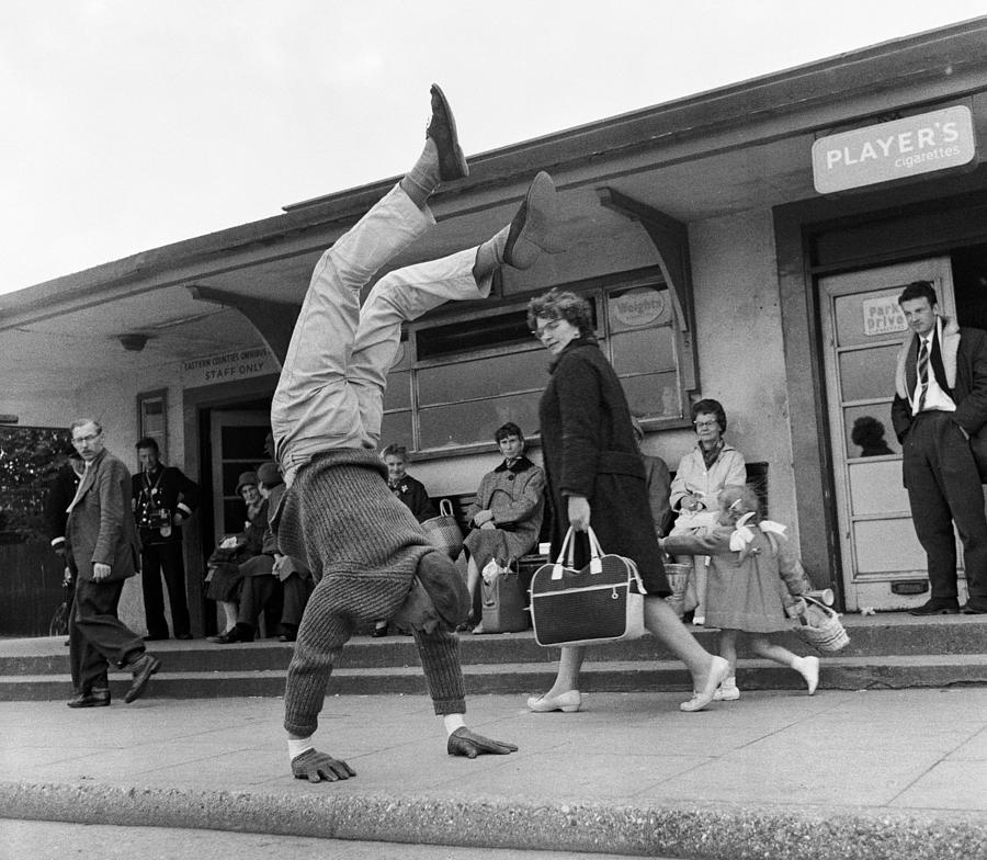 Child Photograph - Handstand by John Drysdale