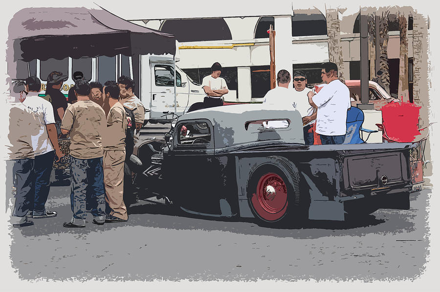 Chopped Photograph - Hanging At The Car Show by Steve McKinzie