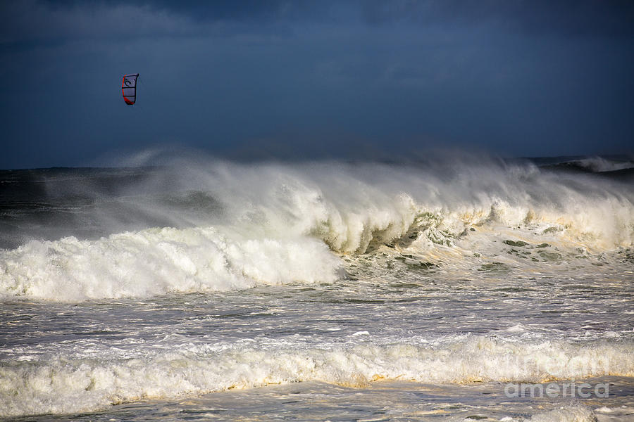 Kite Surfing Photograph - Hanging In There by Sheila Smart Fine Art Photography
