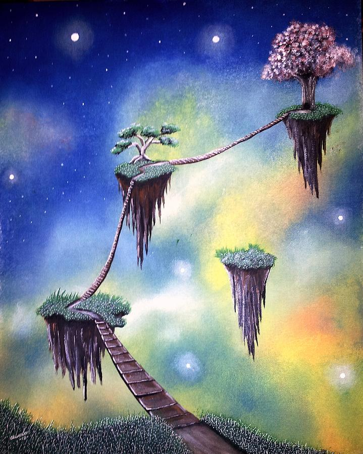 Hanging Painting - Hanging Together by Edwin Alverio