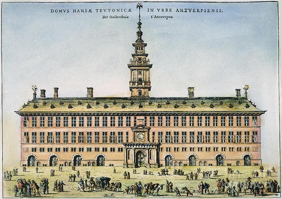 1563 Photograph - Hanseatic League, Antwerp by Granger