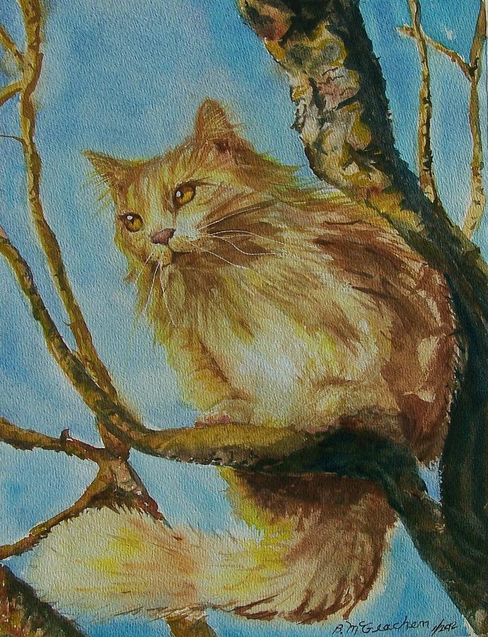 Feline Painting - Hanserelli by Barbara McGeachen