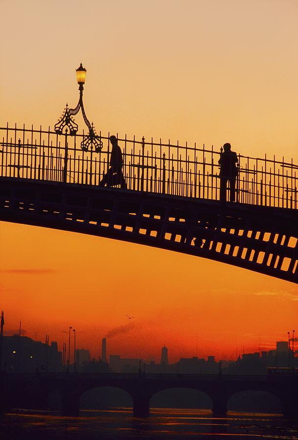 Architecture Photograph - Hapenny Bridge, Dublin, Co Dublin by The Irish Image Collection
