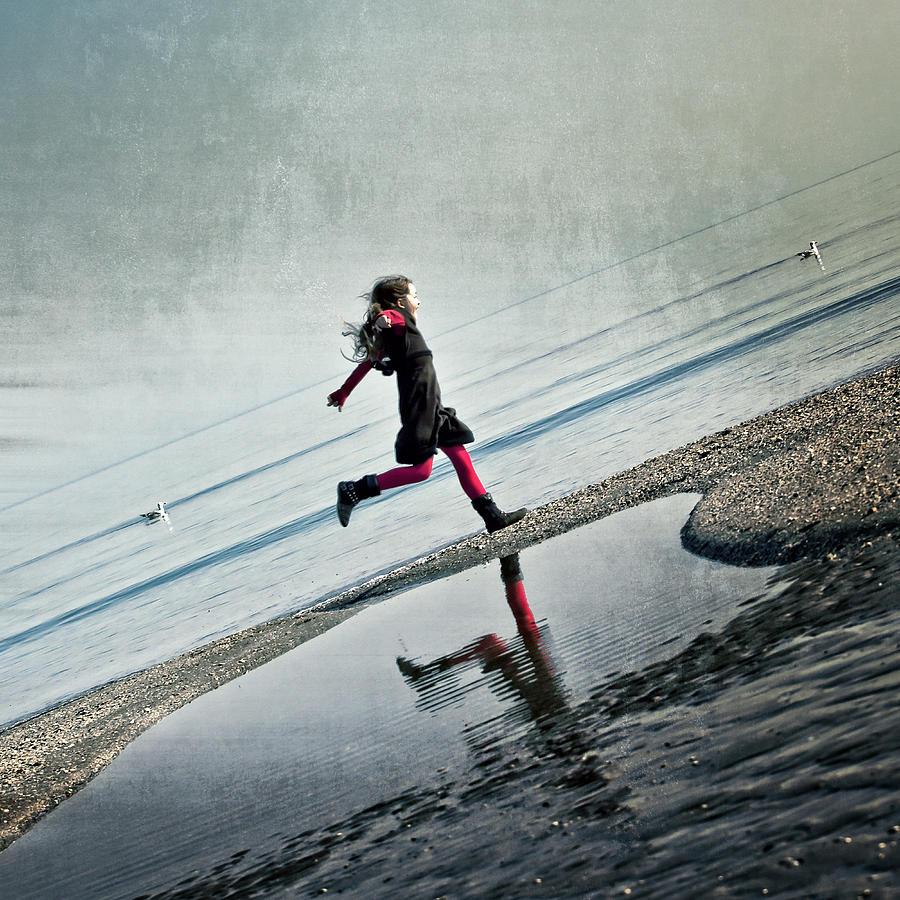 Girl Photograph - Hapiness by Joana Kruse