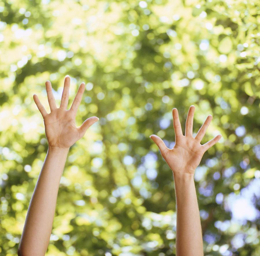 Finger Photograph - Happiness, Conceptual Image by Cristina Pedrazzini