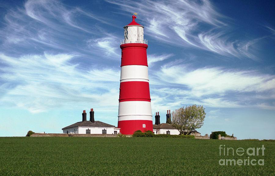 Trinity House Photograph - Happisburgh Lighthouse - Norfolk by Rod Jones