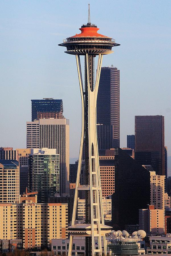 Seattle Photograph - Happy 50th Space Needle by Benjamin Yeager