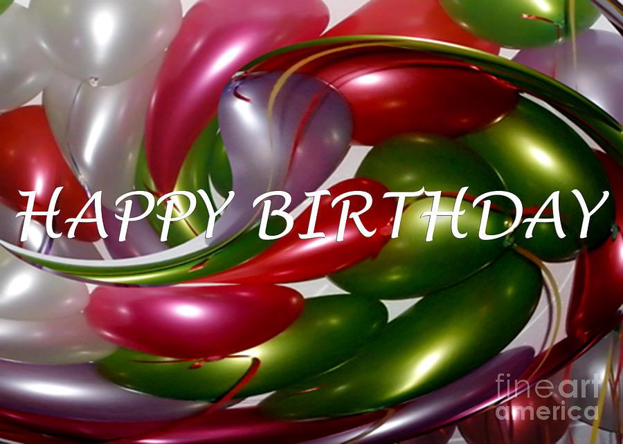 Happy Birthday Photograph - Happy Birthday - Balloons by Kaye Menner