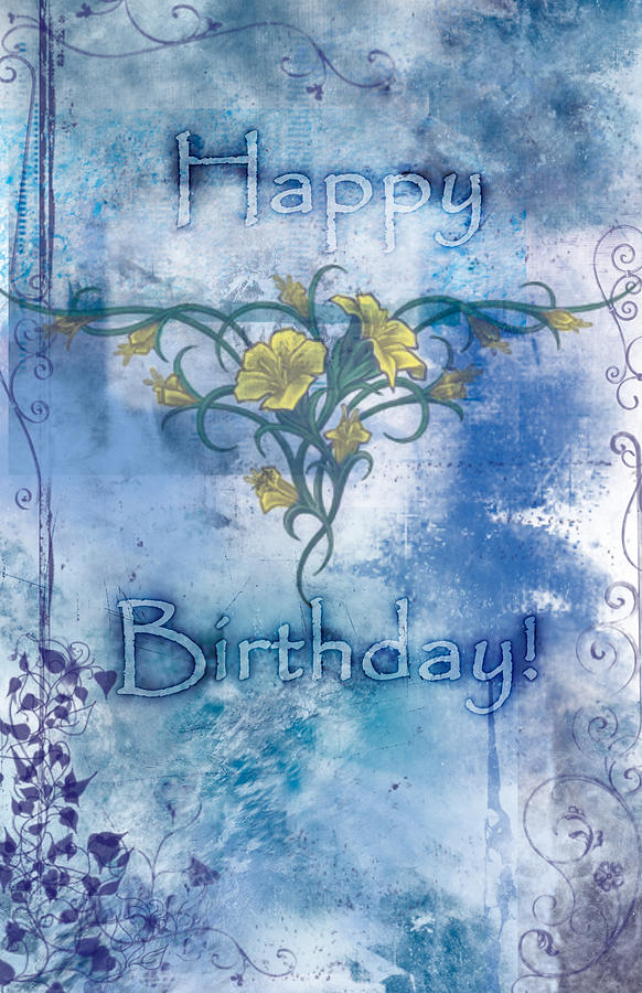happy birthday card design painting by christopher gaston