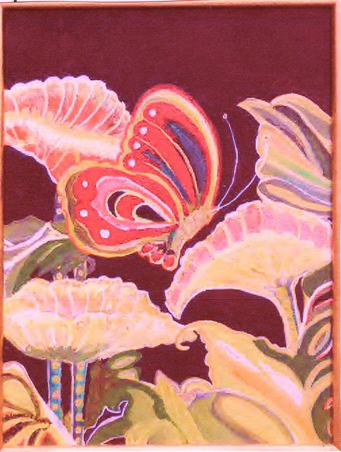 Butterfly Painting - Happy Butterfly by Anne-Elizabeth Whiteway